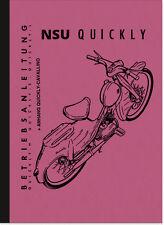 NSU Quickly N S L Cavallino Bedienungsanleitung Betriebsanleitung Handbuch