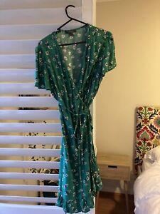 Green Wrap Dress Size 14