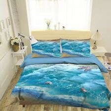 3D Dolphin Waves Beach Starfish Kep9311 Bed Pillowcases Quilt Duvet Cover Kay