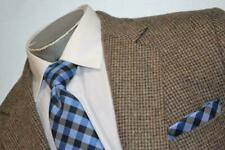 1113-a Mens Haggar Tweed Blazer Scottish Suit Jacket Size 44 Long Tan Designs