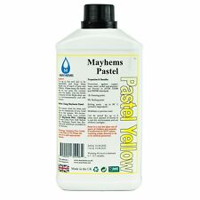 Mayhems Pastel Pre Mixed Water Cooling Liquid Coolant Yellow Fluid 1 Litre