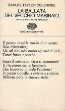 La ballata del vecchio marinaio- S.T.COLERIDGE, 1965- Einaudi  -  ST948