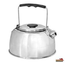 Stainless Steel Camp Kettle 950 ml with Tea Strainer Camping Travel Lightweight