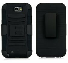Armor Rugged Hybrid Rubber Holster Case Cover for Samsung Galaxy Note II 2 N7100