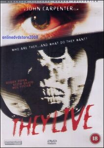 THEY LIVE (Roddy PIPER Keith DAVID Meg FOSTER) Action HORROR Sci-Fi DVD Region 2