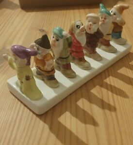 Lovely Rare Clover Snow White & Seven Dwarves Toast Rack Disney