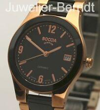Boccia Titanium Damen Uhr aus Titan und Keramik 3189-04 !! NEU !!