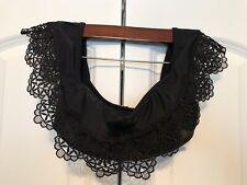 Hollister EUC! Womens Size XS Off-Shoulder Black Ruffle Crochet Swim Bikini Top