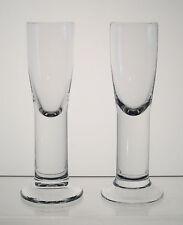 "LEDNICKE ROVNE BOHEMIA Vodka, Schnapps or Liqueur Glasses 5 1/2"" PAIR Solid Stem"