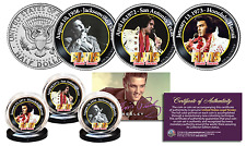 ELVIS PRESLEY * Greatest Concerts * JFK Kennedy Half Dollar 3-Coin Set LICENSED