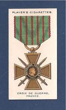 The CROIX de GUERRE 1914-18 War Medal FRANCE Decoration original 1927 card