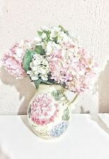 artificial hydrangeas with vase