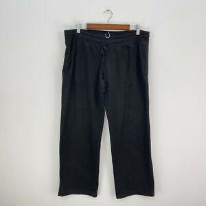 Danskin Now Womens Black Casual Active Pants Sz XL (16p-18p) Petite