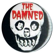 The Damned Stretcher Case Baby 1977 Skull  1 inch  25mm Button Pin Badge