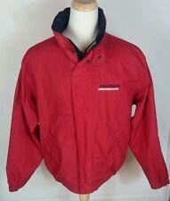 Vtg 90s Nautica Competition Color block Reversible Sailing Jacket Coat XL Red