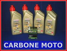 KIT TAGLIANDO OLIO CASTROL POWER 1 RACING 10W40+FILTRO TRIUMPH SPEED TRIPLE 1050