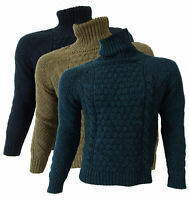 Maglione Fred Perry Uomo maniche lunghe dolcevita made in Italy 30372058