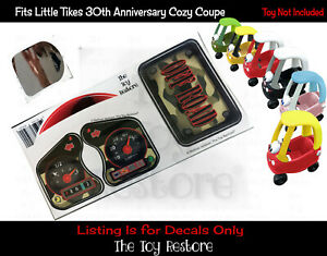 Green Camo Decals Replacement Stickers fits Little Tikes Cozy Coupe 30th Ann