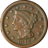 1846 Large Cent - Tall Date Great Deals From The Executive Coin Company