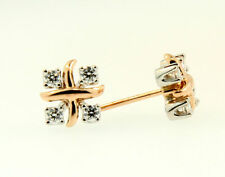 Tiffany & Co. Schlumberger Lynn Diamond Earrings Gold+Platinum $3,049 w Tax
