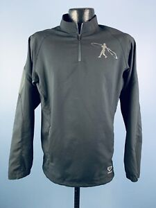 Men's Nike Swingman Griffey Jr Black Poylester Quarter Zip Pullover Extra Small