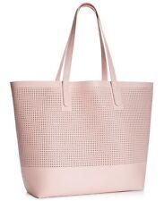 Macy's Large Mesh Tote Bag Pink Pale Shoulder Beach Gym Shopping Bag