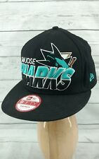 New Era NHL San Jose Sharks Classic Snapback Hat Big Front Letter Logo Cap