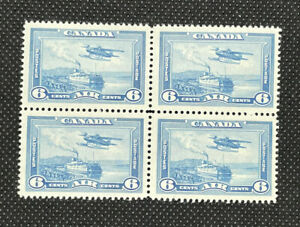 1938 Canada 6c Airmail Block of 4 MNH Stamps SC# C6