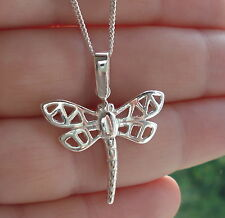 925 Sterling Silver Dragonfly Pendant Charm for Chain Necklace Jewellery