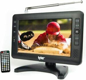 """Tyler TTV704-9: Portable Rechargeable Battery Powered LCD TV - AC/DC 9"""" USB/SD"""