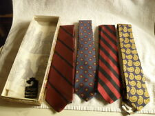 4 Vintage Bambergers New Jersey Pure English Hand Blocked All Silk Ties 1950's