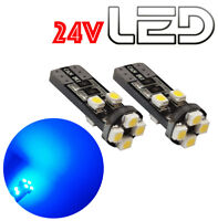 2 Ampoules w5w T10 Led BLEU Camion TRUCK 24V SCANIA IVECO MAN MERCEDES VOLVO DAF