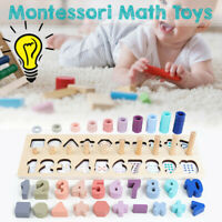 40cm Montessori Toy Rainbow Ring Board Preschool Math Wooden Hand Eye Training