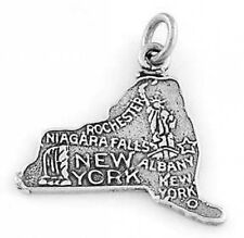 SILVER BIG APPLE / STATE OF NEW YORK CHARM/PENDANT