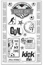 GOAL! 3-D EPOXY STICKERS scrapbooking Soccer GAME ON Take your best shot!