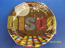 "70's Decades Disco Dance Dancers Theme Retro Birthday Party 7"" Dessert Plates"