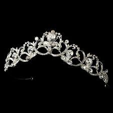 Vintage Silver Swarovski Rhinestone Bridal Tiara Wedding Prom Pageant Sweet 16