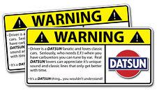 Classic Datsun LOVER Warning Sticker Decal Car Sedan