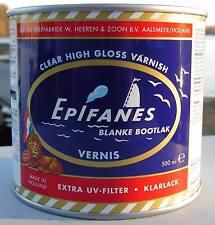 (45€/L) EPIFANES Bootslack klar 500ml Premium Holz-Klarlack mit Extra UV-Filter