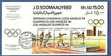 BUSTA FDC OLIMPIADI LOS ANGELES '84 ANNULLO SPECIALE SOMALIA 1984 LOOS AANJELIS