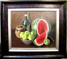 Australian Artist Hal Barton's  original oil titled 'Still Life with Fruit'.