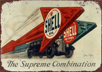 Metal Tin Sign shell motor oil Pub Home Vintage Retro Poster Cafe ART
