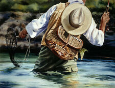 """Small River Big Fish"" Nelson Boren Limited Edition Giclee Print"