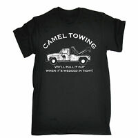 CAMEL TOWING T-SHIRT tee rude offensive naughty explicit funny birthday gift
