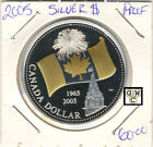 2005 Proof Silver Dollar (with Special Gold-Plated Canada Flag) (OOAK)