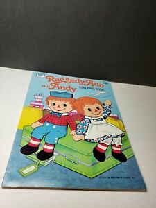 VINTAGE 1978 RAGGEDY ANN AND ANDY COLORING BOOK UNUSED