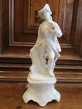 ancienne statuette en porcelaine de paris epoque 19 eme marquis chasseur