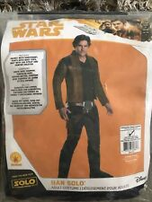 "Star Wars Han Solo Adult Costume Disney Movie ""Solo"" One Size Standard $59 NEW"