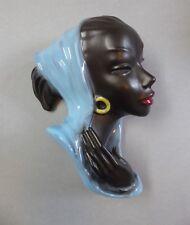 Keramik Wandmaske Frau Afrikanerin Wall Mask Cortendorf 3422 Rockabilly 1959