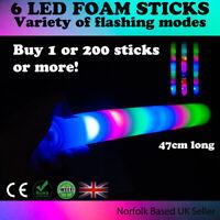 18inch Foam Multi-Coloured LED Flashing Glow Sticks Concerts Festival